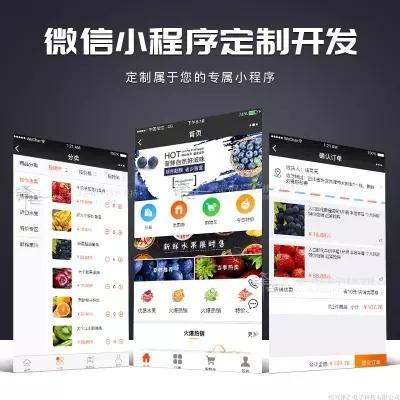 app微信小程序开发定制公众号微商城开发水果餐饮附近小程序分销